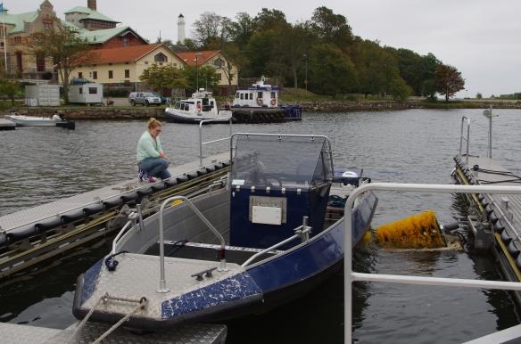 Rent under. Båttvätten i Karlskrona